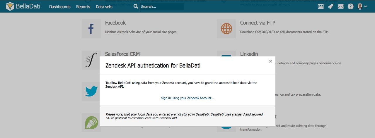 Connecting to Zendesk - BellaDati v2 7 - BellaDati Support